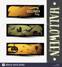 Halloween Banners by Set Of Three Halloween Banners Halloween Party Vector