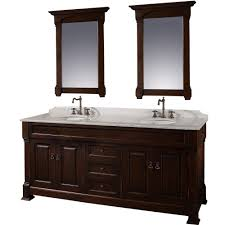 Wyndham Collection Andover  Inch Double Bathroom Vanity In - Black bathroom vanity and sink