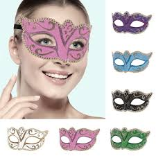 new 6 colors halloween costume party dancing mask women costume