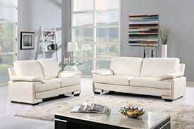 amazon sofas for sale amazon com modern faux leather sofa and loveseat living room