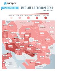 Chicago Neighborhood Map Poster by Dc Rent Highest And Lowest By Neighborhood In One Map