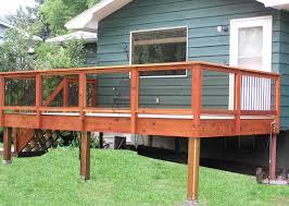 Deck Handrail Decor U0026 Tips Inspirational Deck Railing Designs For Decorating