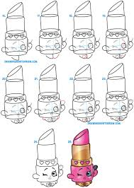 shopkins halloween background how to draw lippy lips cute lipstick from shopkins easy step