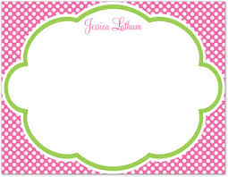polka dot stationery polka dot pink personalized note cards stationery note cards 25062
