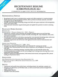 Medical Front Office Resume Reception Resume Samples Receptionist Resume Sample Medical
