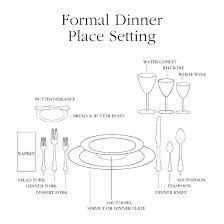 formal dinner table setting basic table setting diagram partum me