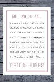 will you be my bridesmaid poem will you be my of honor card will you be my of honor