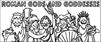 gods roman coloring page wecoloringpage