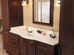 bathroom design and decoration using mahogany bathroom vanity