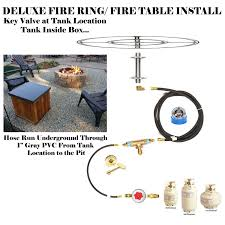 Propane Fire Pit Burners T48ck 48 U2033 T Burner Complete Propane Deluxe Fire Table Kit U2013 Low