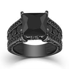 black sapphire rings images Black sapphire engagement rings lajerrio jewelry jpg