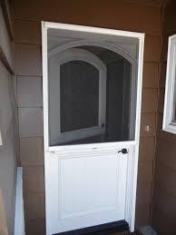 door wonderful retractable screen doors for home exterior design stowaway arched dutch retractable screen doors in chocolate theme with black handle