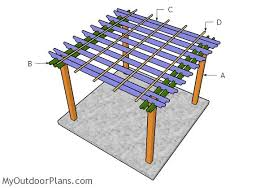 10 X 10 Pergola by 10x10 Pergola Plans Myoutdoorplans Free Woodworking Plans And
