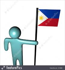 Philippines Flag Person With Philippines Flag Illustration