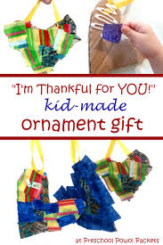 i m thankful for you kid made ornament gifts preschool powol