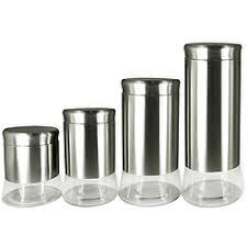 stainless steel canister sets kitchen glass kitchen canister sets decorating clear
