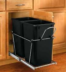 Kitchen Cupboard Garbage Bins by Trash Cans Diy Pull Out Trash Can For Kitchen Cabinet Under