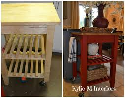 rolling island for kitchen ikea ikea bekvam kitchen island cart makeover with annie sloan chalk