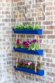 wall hanging planters diy hanging rain gutter planters make it and love it
