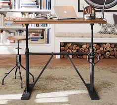 Industrial Looking Desk by Pittsburgh Crank Sit Stand Desk Pottery Barn