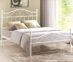 4ft 6 double white metal bed frame