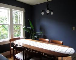 Brown Dining Blue Room Dining Room Dark Blue Painted Wall With Blue Pattern Fabric