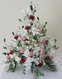 artificial floral arrangements for interior decor white