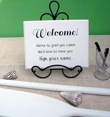 guest book sign in welcome sign your name for wedding guest book table shown in