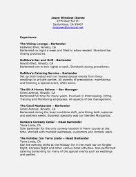 Bartender Responsibilities Resume Amazing Bartender Job Description For Resume U2013 Resume Template For