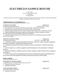 Industrial Resume Examples by Free Electrician Resume Recentresumes Com