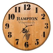personalized picture clocks handcrafted wine barrel clock personalized