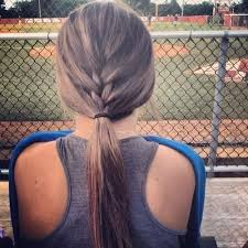 cute hair style wear to a ball game football game outdoors