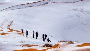 sahara snowfall the third snowfall on the sahara desert in almost 40 years lost planet