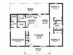 3 Bedroom Open Floor House Plans 1200 Square Foot House Plans Ranch Style House Plans 1200