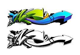 create a graffiti style arrow design in adobe illustrator - Graffiti Design