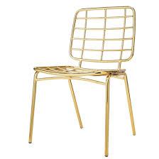 chaise dorée chaise mesh dorée bloomingville groupdeco fr site français