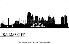kansas city skyline illustration download free vector art stock