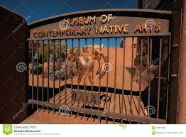 contemporary native american art museum santa fe editorial stock