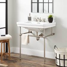 11 Must Have Sink Accesories And Products To Organize My Sink by Mason Porcelain Console Sink With Brass Stand Bathroom