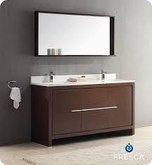 fresca allier 36 quot wenge brown modern bathroom vanity w fresca allier 60 modern double sink bathroom vanity wenge dark