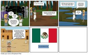 Mexican Flag Cartoon Aztec Flag Story Storyboard By 115559