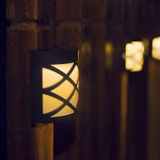 amazon com warm light solar light for wall porch garden