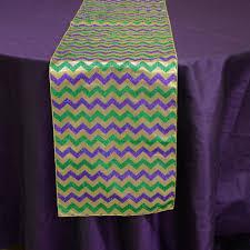mardi gras table runner 72 metallic mardi gras glitter chevron table runner rg4014