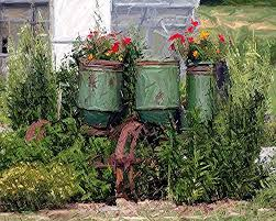 outdoor plantation flower pots front yard landscaping ideas