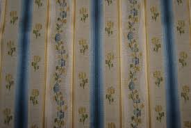 Stripe Drapery Fabric French Lisere Sale 22 Per Yard Heavy Embroidered Floral Stripe