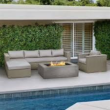 Discontinued Patio Furniture by Mezzo Wicker Outdoor Sectional Sofa 9671 Tp Real Flame Outdoor