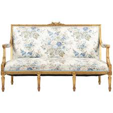 canape style louis xvi style giltwood antique settee sofa canape c 1900