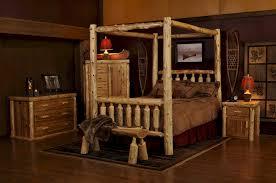 Cheap Log Bed Frames Log Canopy Bed Bwcb08 Rustic Bed Frames Log Bedroom Furniture