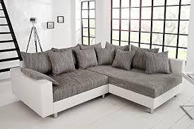 federkern sofa design ecksofa loft weiß strukturstoff grau federkern sofa ot