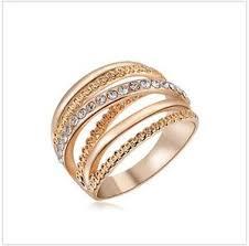 design modeschmuck damen ring rosegold strass design modeschmuck ebay